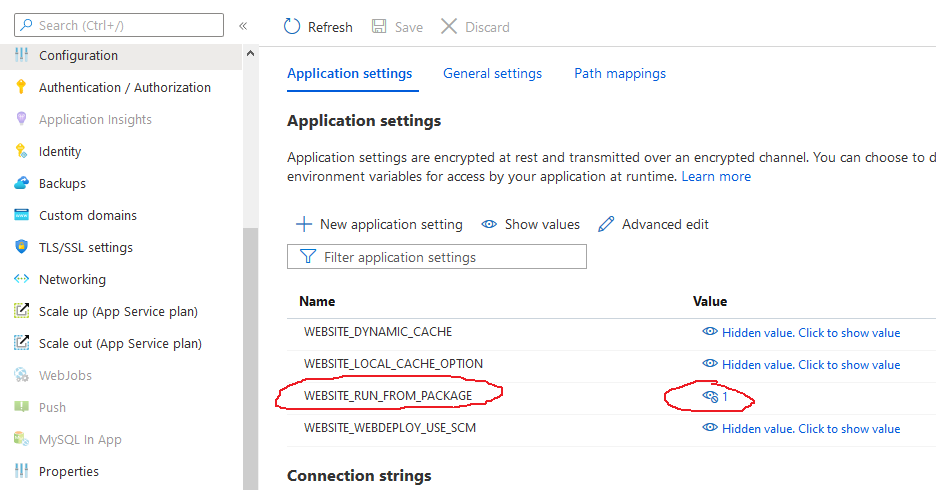 Azure App Service Run From Package